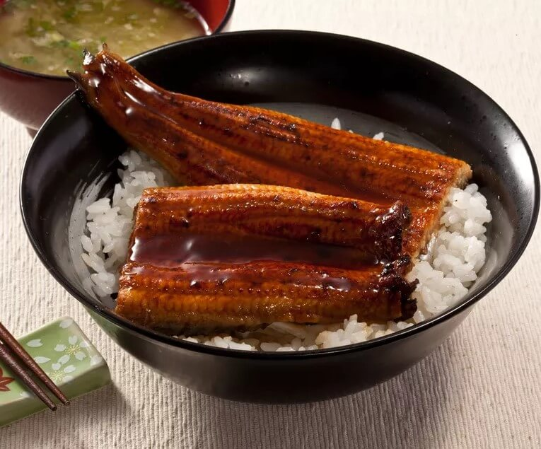 Perfect combo unagi and rice