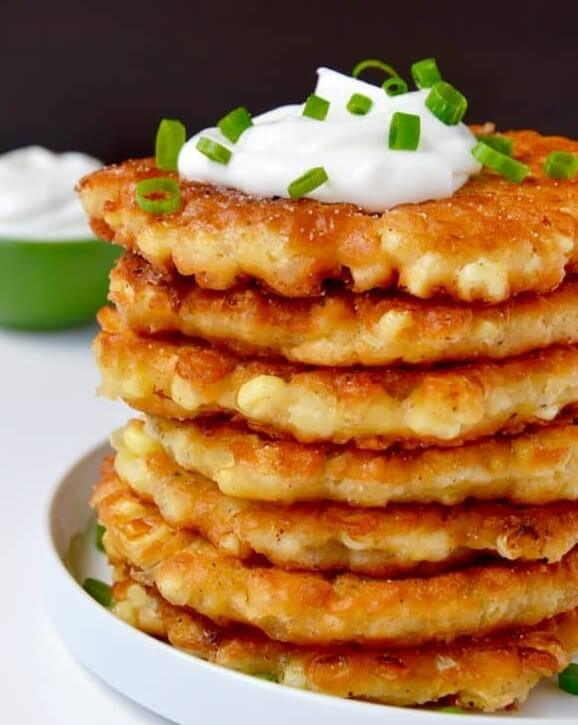 Munchy corn fritters