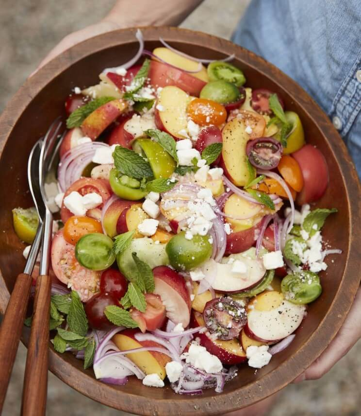 Stone fruit salad for the summer
