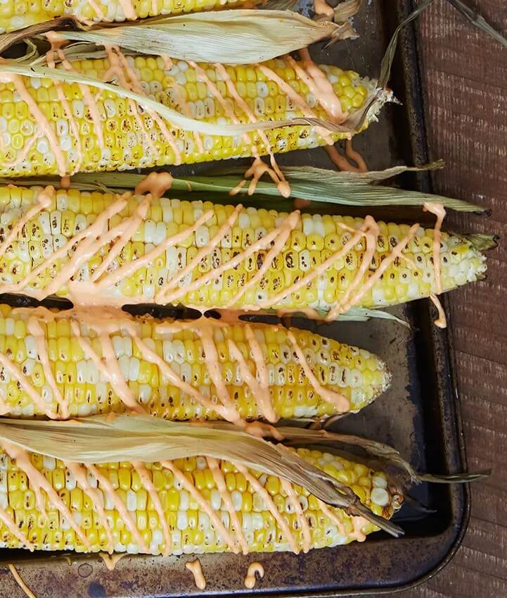 Classic corn with aioli