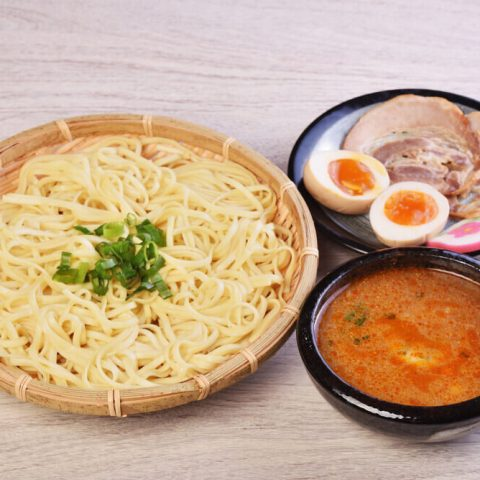 Tsukemen ramen with roasted pork egg and dipping soup