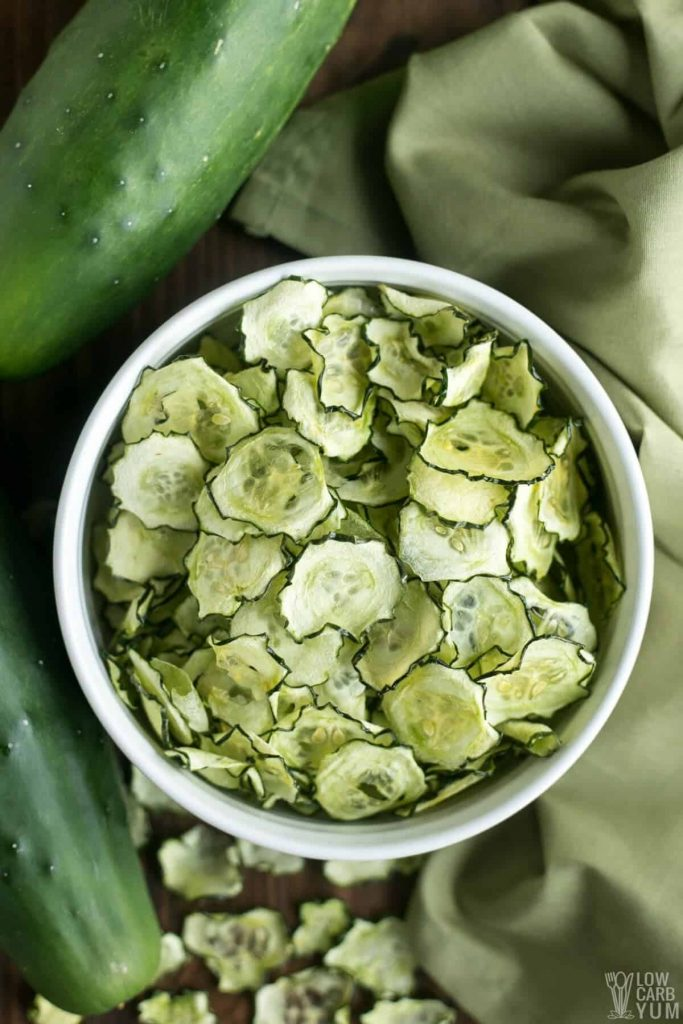 Kale and cucumber chips